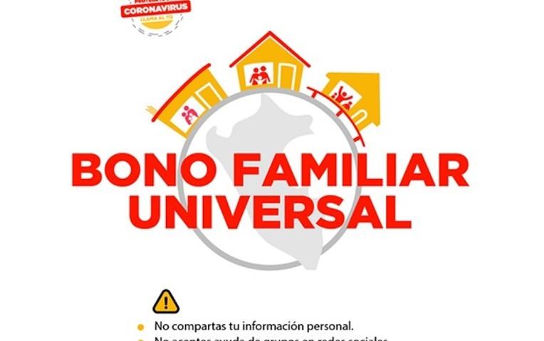 BONO UNIVERSAL: PLATAFORMA WEB DISPONIBLE